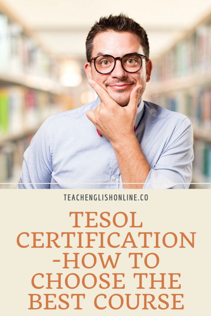 pinterest pin about choosing tesol certificate